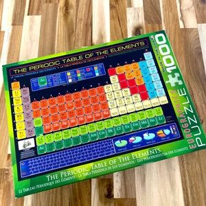 Periodic Table of Elements 1000 piece puzzle